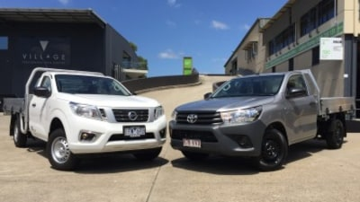 Nissan Navara DX v Toyota HiLux Workmate head to head