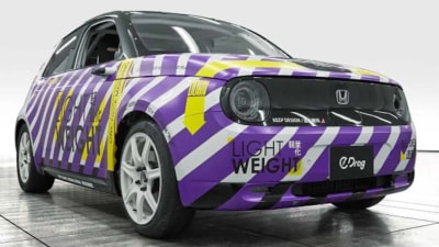 All-electric Honda E coupe could launch in 2022, as electric drag car revealed