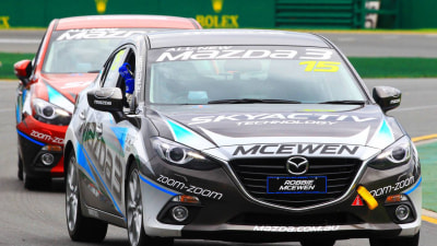 Mazda3 Grand Prix Celebrity Challenge: McEwen, Emerton Race Winners