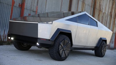 Ford F-150 Raptor transformed into Tesla Cybertruck
