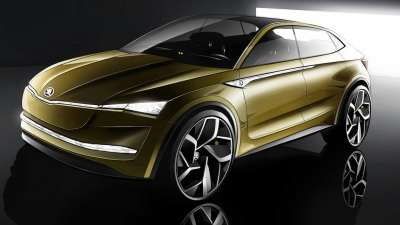 Skoda Pencils-In Electric Future - Inside And Out