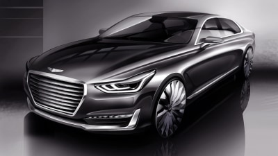 Hyundai's Genesis Brand Flagship Revealed With First G90 Teaser