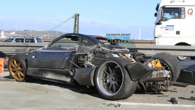 2011 Pagani C9 Spied In Stuttgart Test Crash