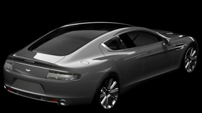 Rear View: Aston Martin Rapide Flashes Its Rump