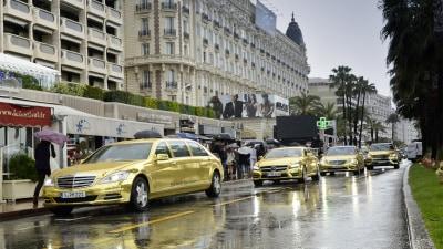Mercedes-Benz Supplies Gold Fleet To Cannes Film Festival