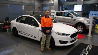 First Ford Falcon XR8 Sprint Aids Diabetes Research
