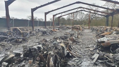 Alleged arson attack destroys multi-million dollar car collection