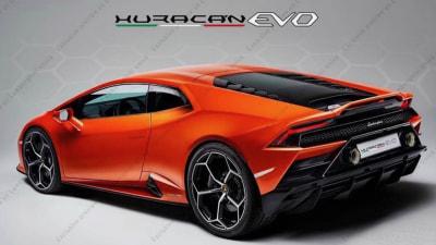 Facelifted Lamborghini Huracan leaks
