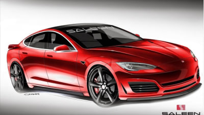 Saleen Teases Enhanced Tesla Model S