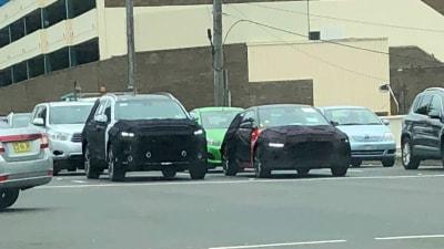 New Hyundai Santa Fe And Veloster Spied In Sydney