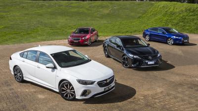 Holden Commodore RS v Ford Mondeo Trend v Toyota Camry SX v Subaru Liberty 2.5i Premium comparison test