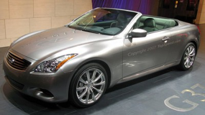 Infiniti G37 Convertible Set for US Market