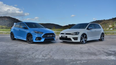 All-Wheel Drive Hot Hatch Showdown - Ford Focus RS v Volkswagen Golf R