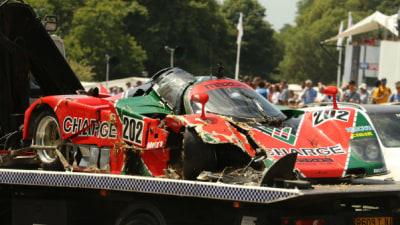 Oh Dear… Mazda 767B Racer Crashed At Goodwood