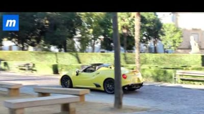 Alfa Romeo 4C Spider Spied In The Metal: Video