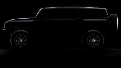 2022 GMC Hummer EV electric SUV teased ahead of next week's reveal