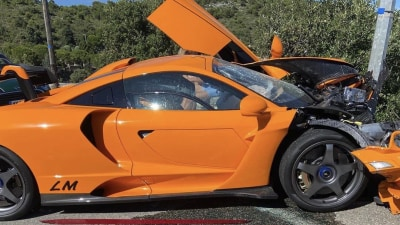 McLaren Senna LM crashed in Monaco