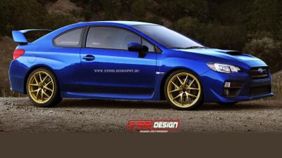 Subaru WRX STI Coupe Rendered, A New 22B?
