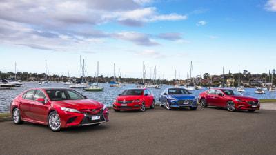 Toyota Camry v Mazda6 v Hyundai Sonata v Skoda Octavia comparison review