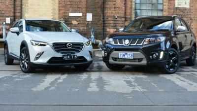Small SUV Showdown - Mazda CX-3 v Suzuki Vitara Turbo Comparison Test
