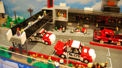 Mount Panorama Bathurst On Display - In LEGO Form