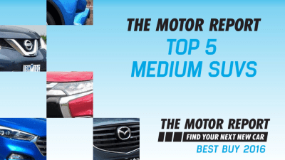TMR Best Buy 2016 - Top 5 Medium SUVs, Hyundai Tucson, Toyota RAV4, Mitsubishi Outlander, Nissan X-Trail, Mazda CX-5