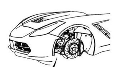 2013 Corvette Teased Further, Face Revealed In New Tech Drawing