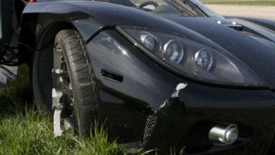 Koenigsegg Biofuel Top Gear crash