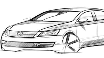 Volkswagen Releases Sketch Of New Medium Sedan