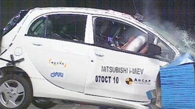 Mitsubishi i-MiEV Scores 4-Star ANCAP Safety Rating