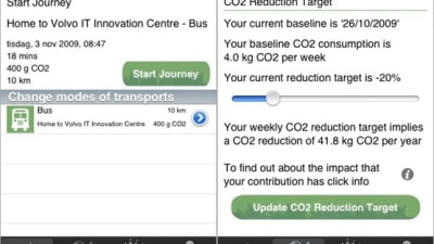 Volvo Launches Commute Greener Emissions-Tracking Mobile Website