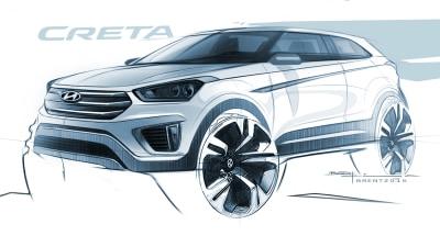 2016 Hyundai Creta SUV Previewed In New Sketch