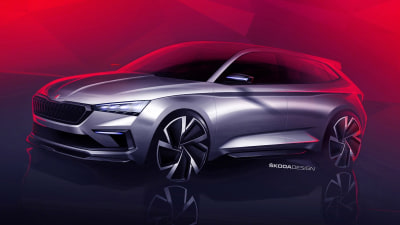 Skoda teases Vision RS concept