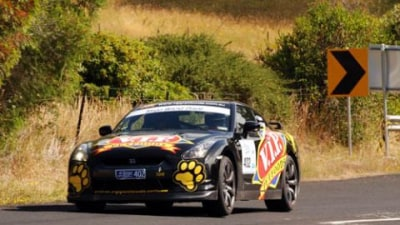 VIP Petfoods Nissan R35 GT-R Finishes Second In Targa Wrest Point Tarmac Rally