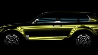 Kia teases large SUV concept
