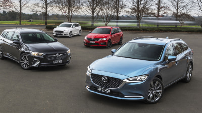 Mazda6 GT wagon v Holden Commodore RS Sportwagon v Ford Mondeo Titanium wagon v Skoda Octavia RS245 wagon comparison review