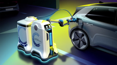 Volkswagen's mobile EV charging robot unveiled