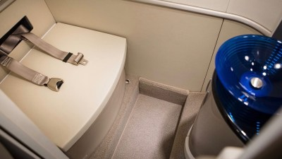 Honda adds belted toilet for jet setters