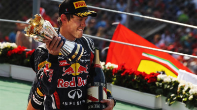 F1: Vettel Title Edges Closer With Monza Win; Webber Crashes Out