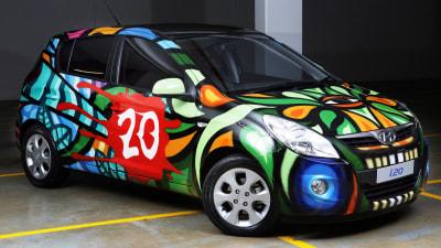 Hyundai i20 'ArtCar' Shown At Australian International Motor Show: Video