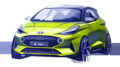 2020 Hyundai i10 sketched