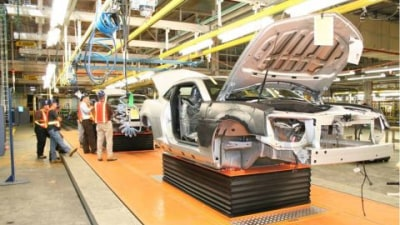 Pre-Production Camaro Rolls Down The Line