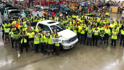 Ram celebrates 1500th vehicle, start of 24-hour production