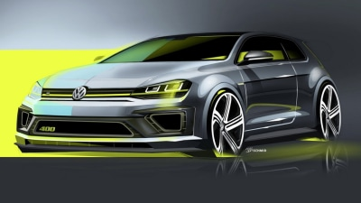 Volkswagen Teases Souped-up 'Golf R 400' Concept