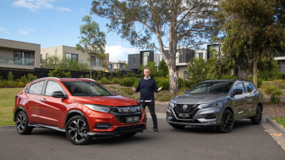 2021 Honda HR-V RS v Nissan Qashqai Midnight Edition