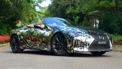 Lexus LC Convertible prototype visits Australia