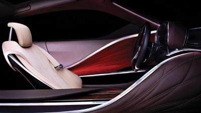 Lexus Teases Detroit Concept's Leather-bound Cabin