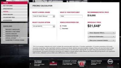 Nissan Australia Launches Online Pricing Calculator To Get 'Drive Away' Price