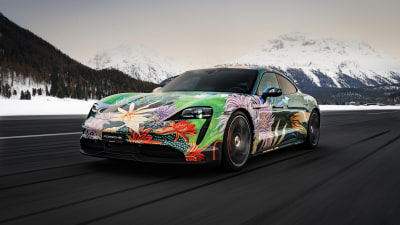 Porsche Taycan 'Art Car' being sold for a good cause