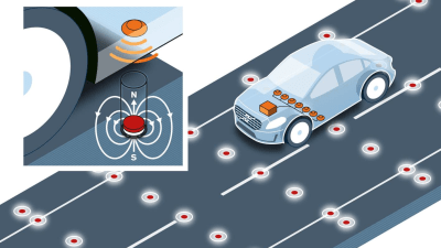 Volvo Tests Navigational Road Magnets With Autonomous Cars